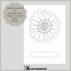 Sunflowers monthly set with structured layout  [printable]